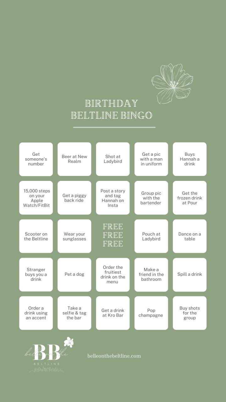 Beltline Bingo