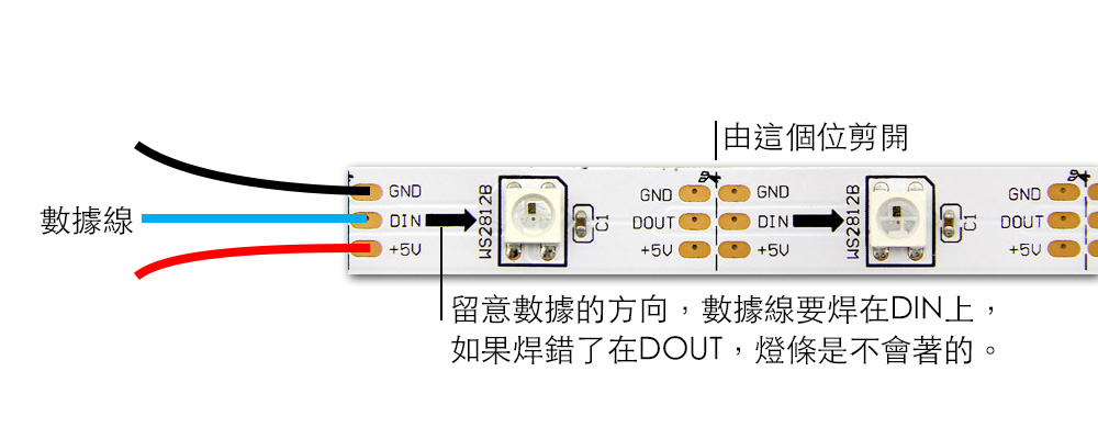 How to wire WS2812 LED