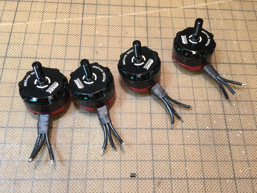 Emax motor 2205 trimmed wire