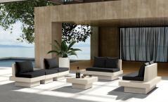Modern Patio Sofa Set With Coffee Table-H62