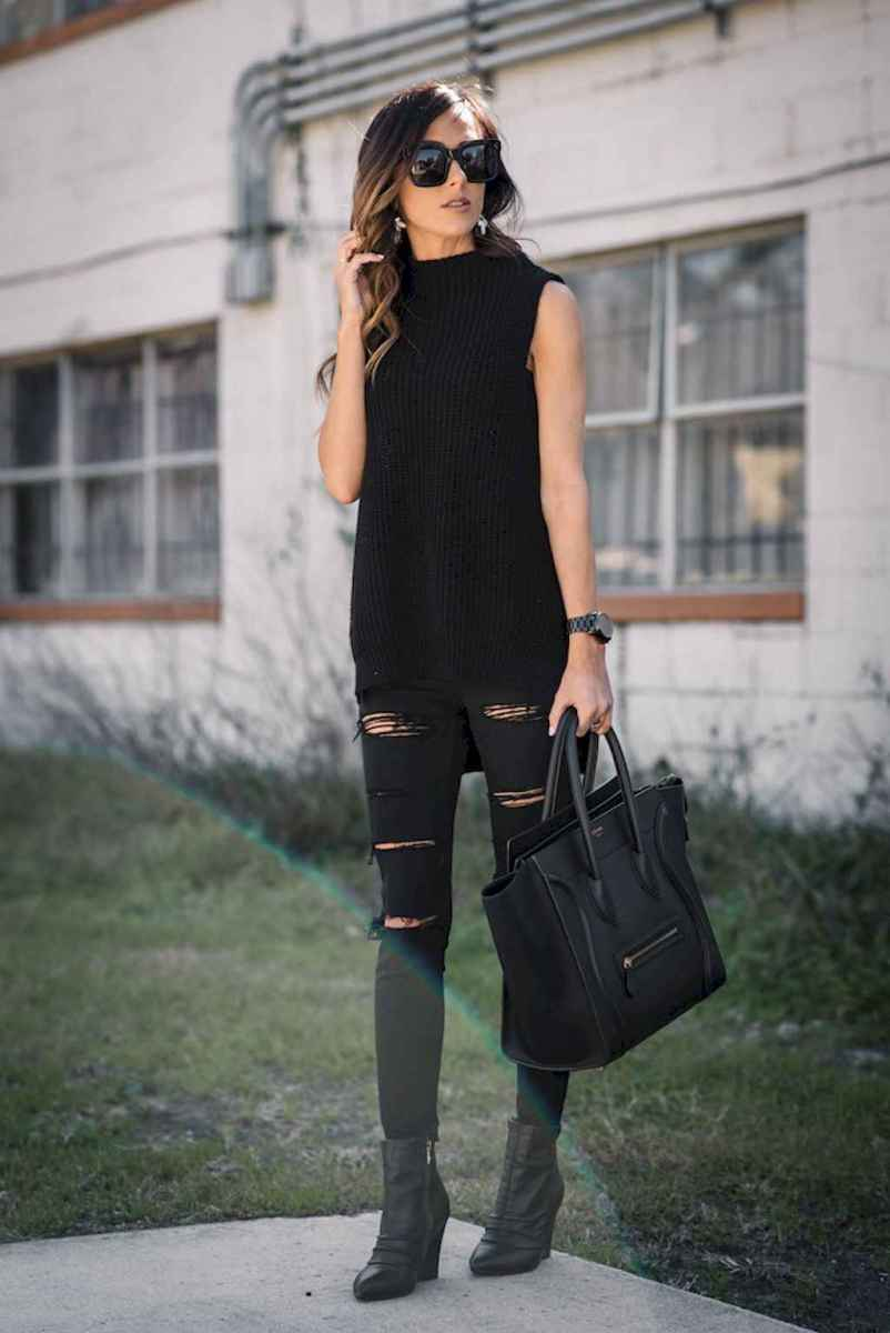01 Chic All Black Outfit