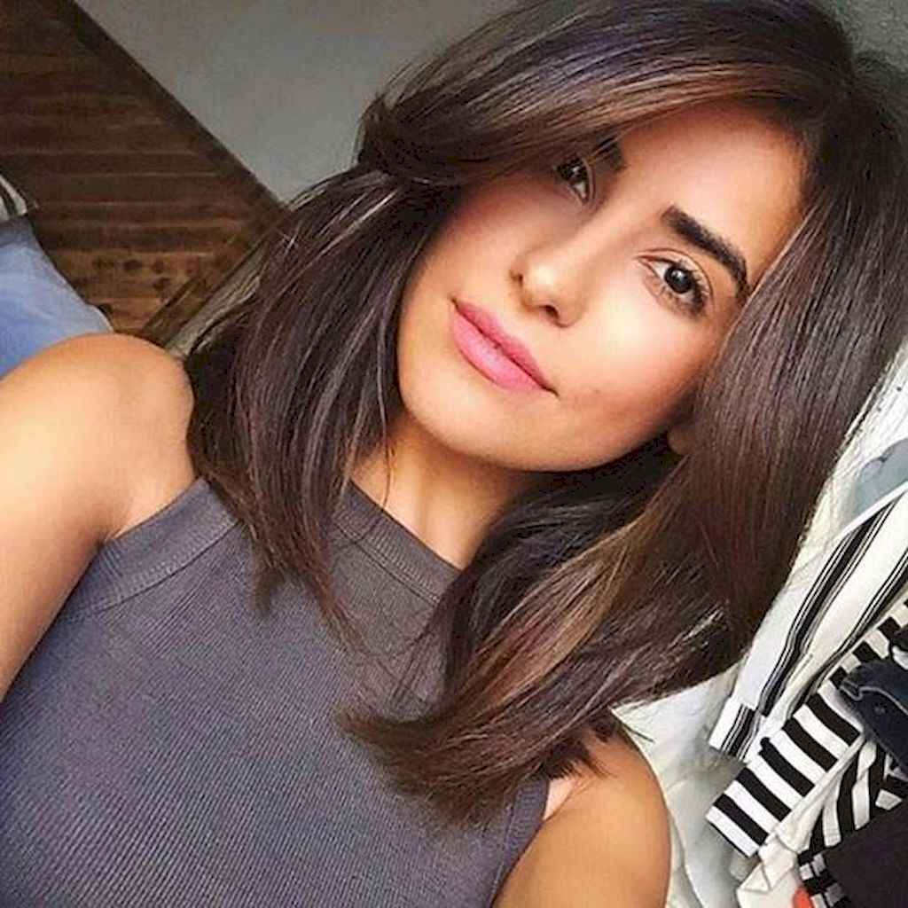 01 Stylish Lob Hairstyle For Fall and Winter