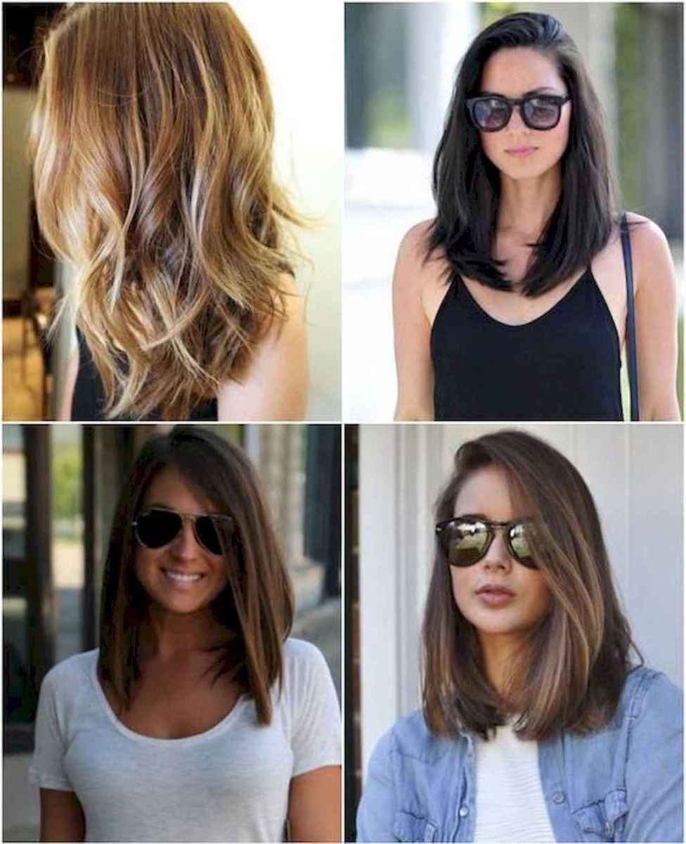 08 Stylish Lob Hairstyle For Fall and Winter