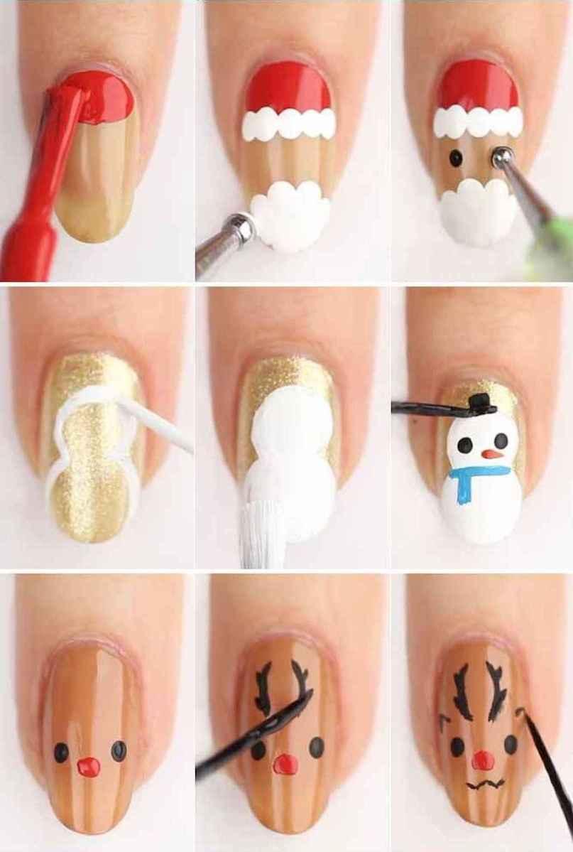30 Easy Winter Nail Art Ideas