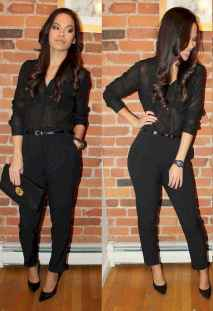 42 Chic All Black Outfit