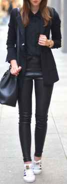 44 Chic All Black Outfit