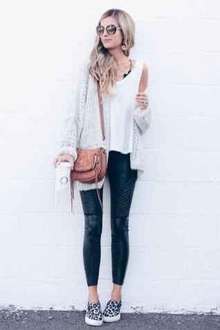 54 Cool Girls WaysTo Wear Leather Legging