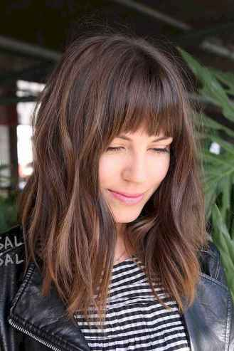 56 Stylish Lob Hairstyle For Fall and Winter