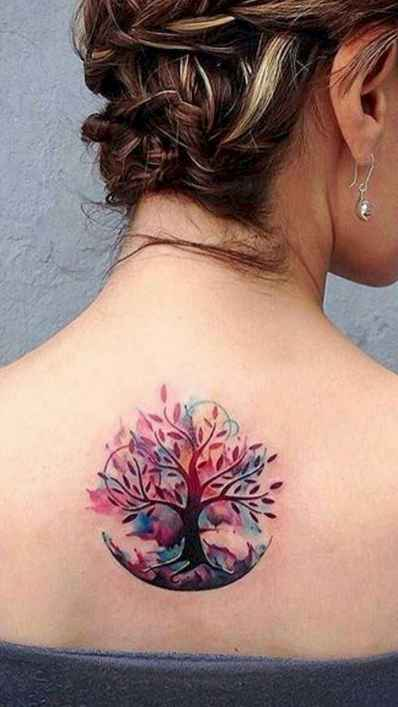 01 Most Beautiful Watercolor Tattoos Art Ideas