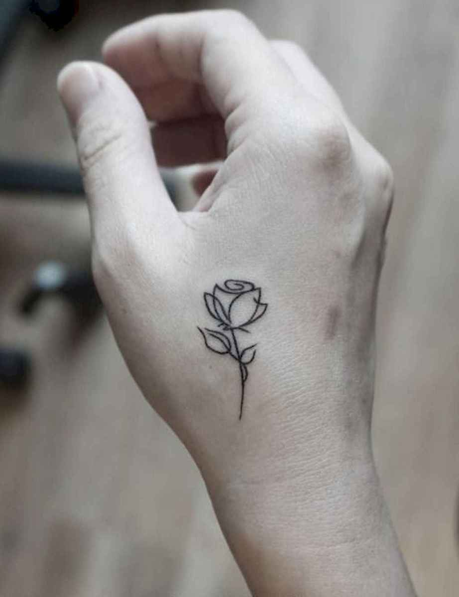 01 Traditional Rose Outline Tattoo Designs Ideas