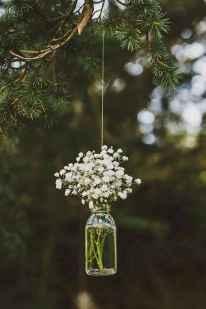 06 Rustic Wedding Suspended Flowers Decor Ideas