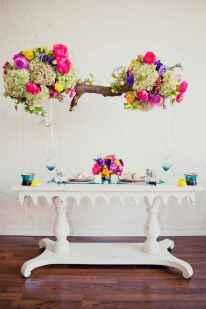 07 Rustic Wedding Suspended Flowers Decor Ideas