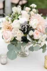 08 Romantic White Flower Centerpiece Decor Ideas