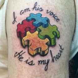 12 Coolest Puzzle Piece Autism Tattoos Art Ideas