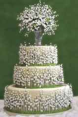15 Green Wedding Cake Inspiration with Classy Design