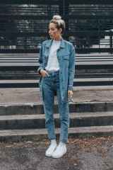16 Simple and Cute Outfits Ideas with Double Denim
