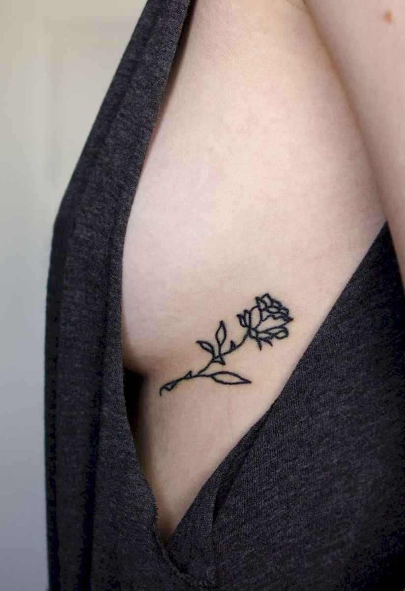19 Traditional Rose Outline Tattoo Designs Ideas