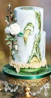 20 Green Wedding Cake Inspiration with Classy Design