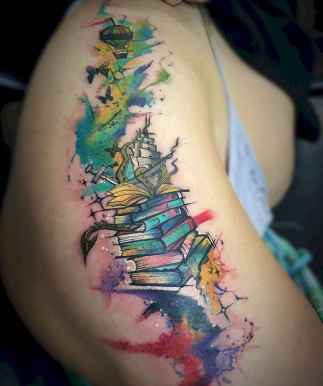 22 Awesome Book Tattoo Designs Ideas For Bookworms