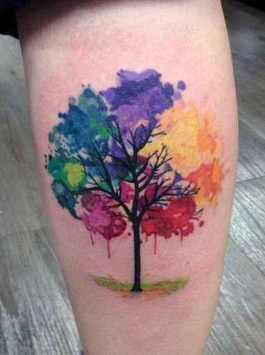 23 Most Beautiful Watercolor Tattoos Art Ideas