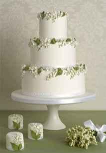 33 Green Wedding Cake Inspiration with Classy Design