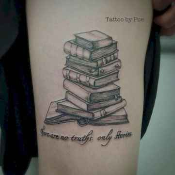 34 Awesome Book Tattoo Designs Ideas For Bookworms