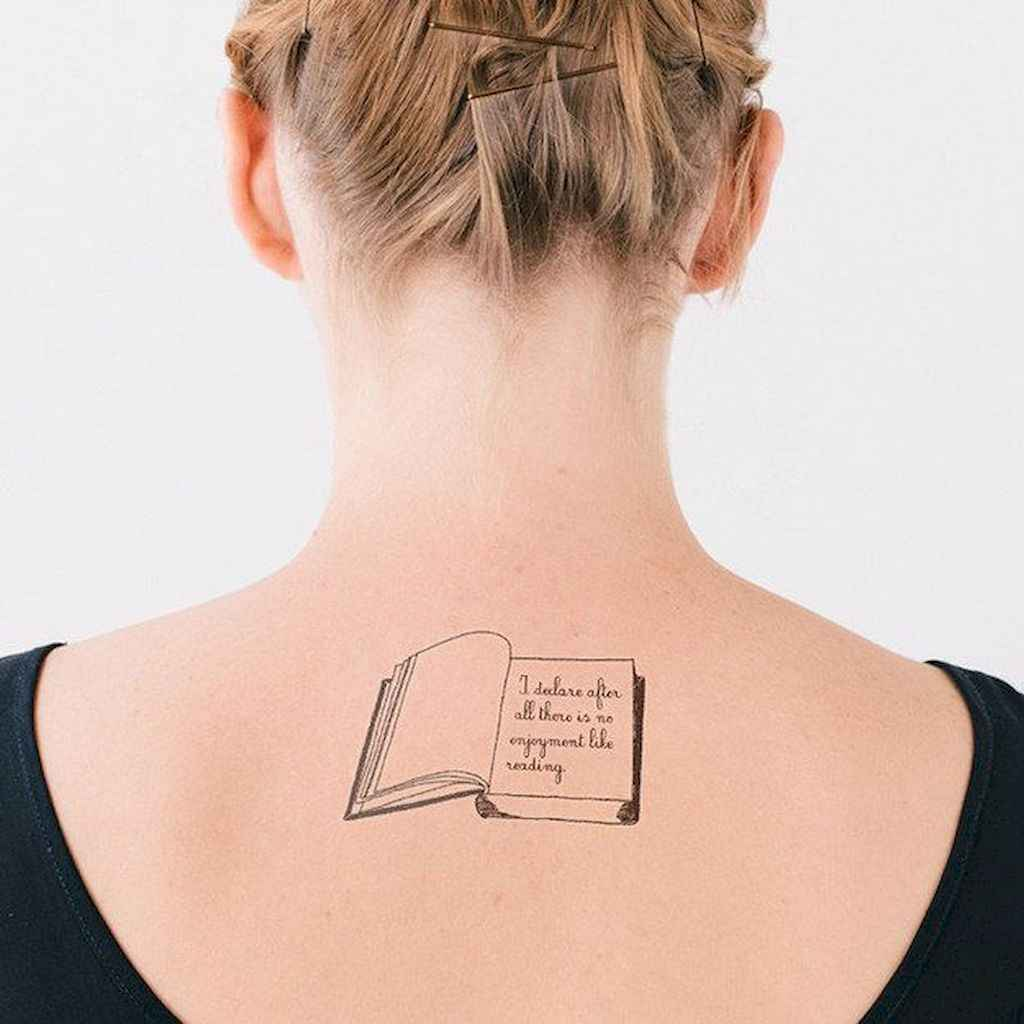 47 Tattoo Designs For Women: 47 Awesome Book Tattoo Designs Ideas For Bookworms