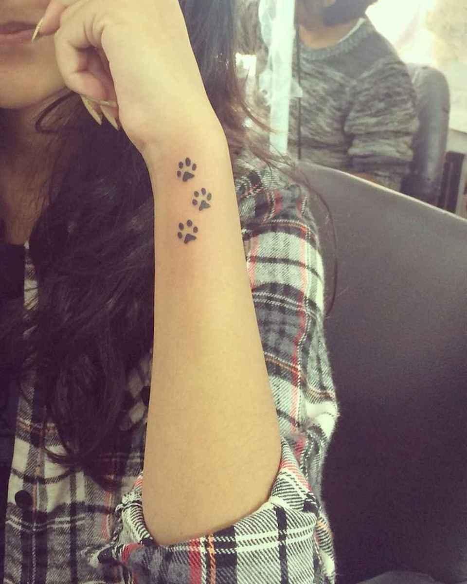 40 Cute Paw Print Tattoo Designs Ideas You Must Love