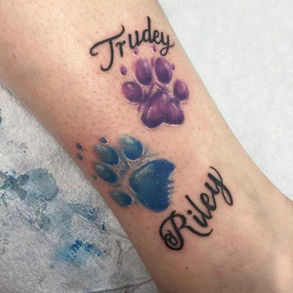 Creative Dog Paw Tattoos: 42 Cute Paw Print Tattoo Designs Ideas You Must Love