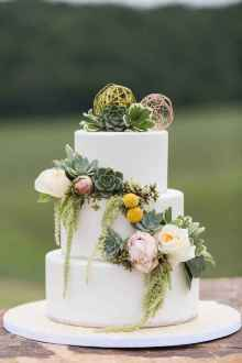 42 Green Wedding Cake Inspiration with Classy Design
