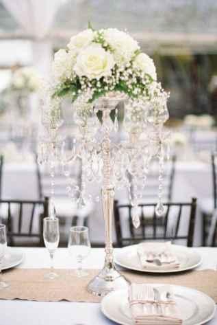 52 Romantic White Flower Centerpiece Decor Ideas