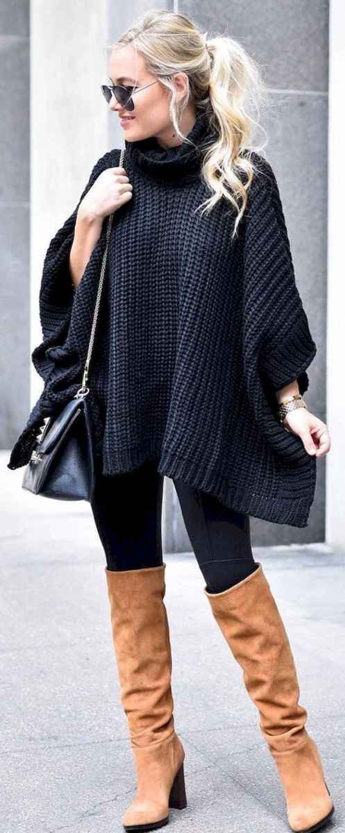 02 Trending Winter Outfits Oversized Poncho Outfit Ideas