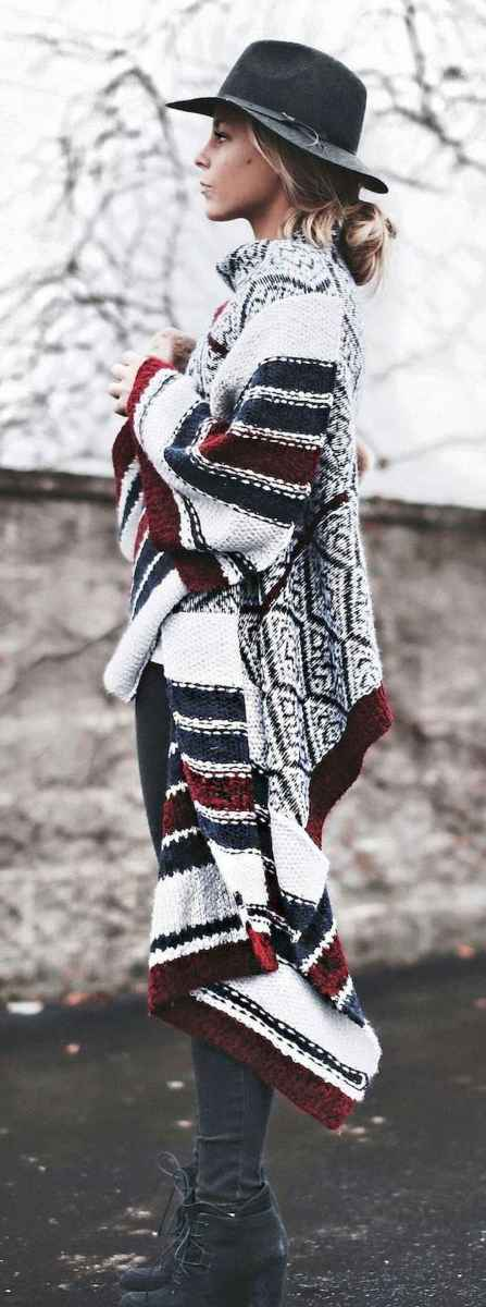 08 Trending Winter Outfits Oversized Poncho Outfit Ideas