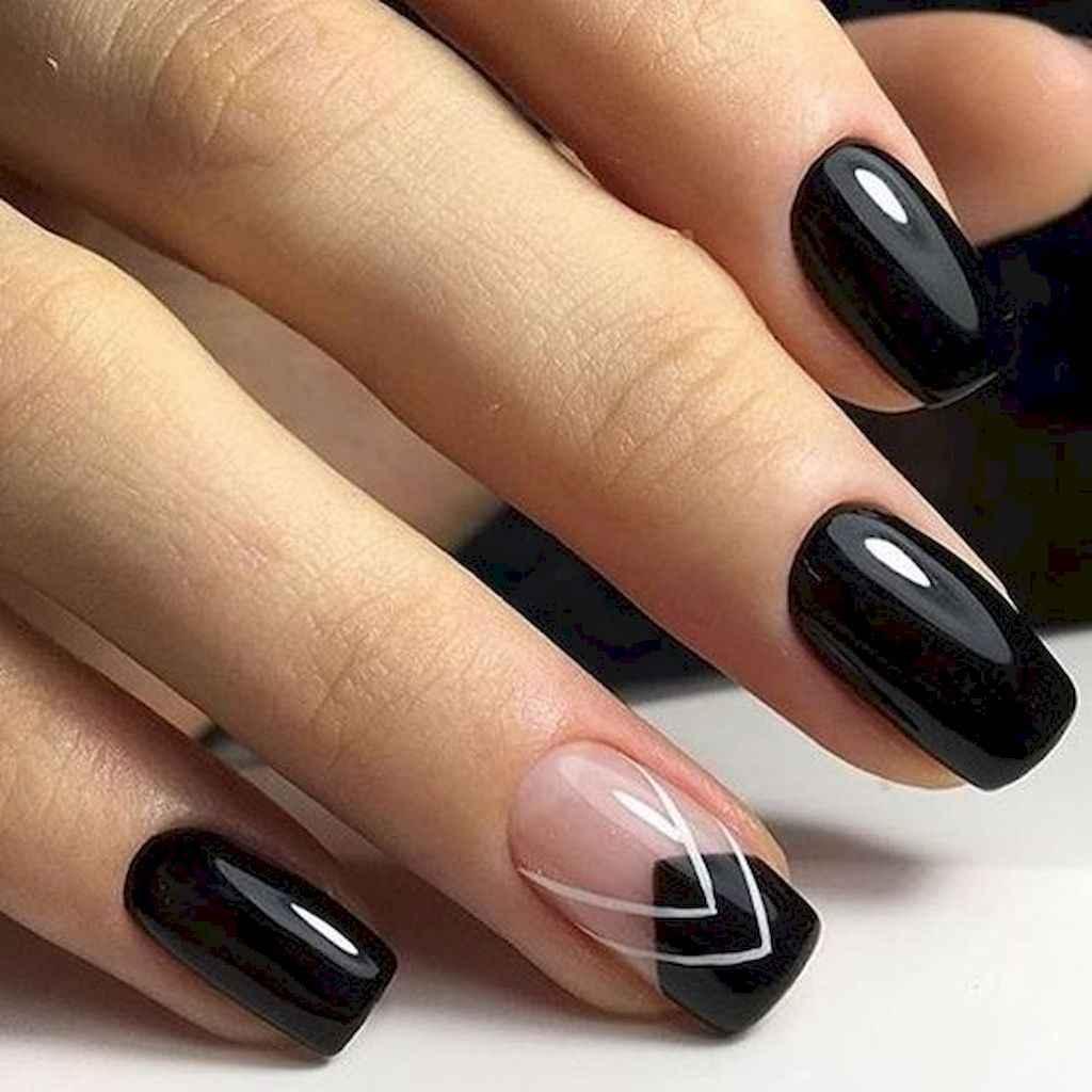11 Elegant Black Nail Art Designs that You'll Love