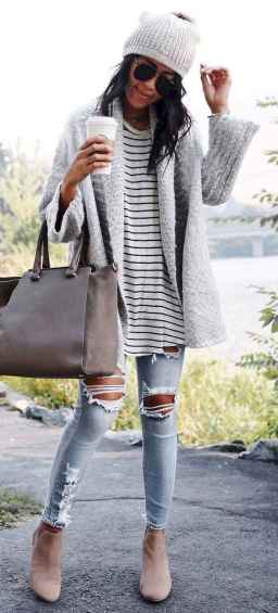 13 Beautiful Fall Outfits Ideas With Cardigan
