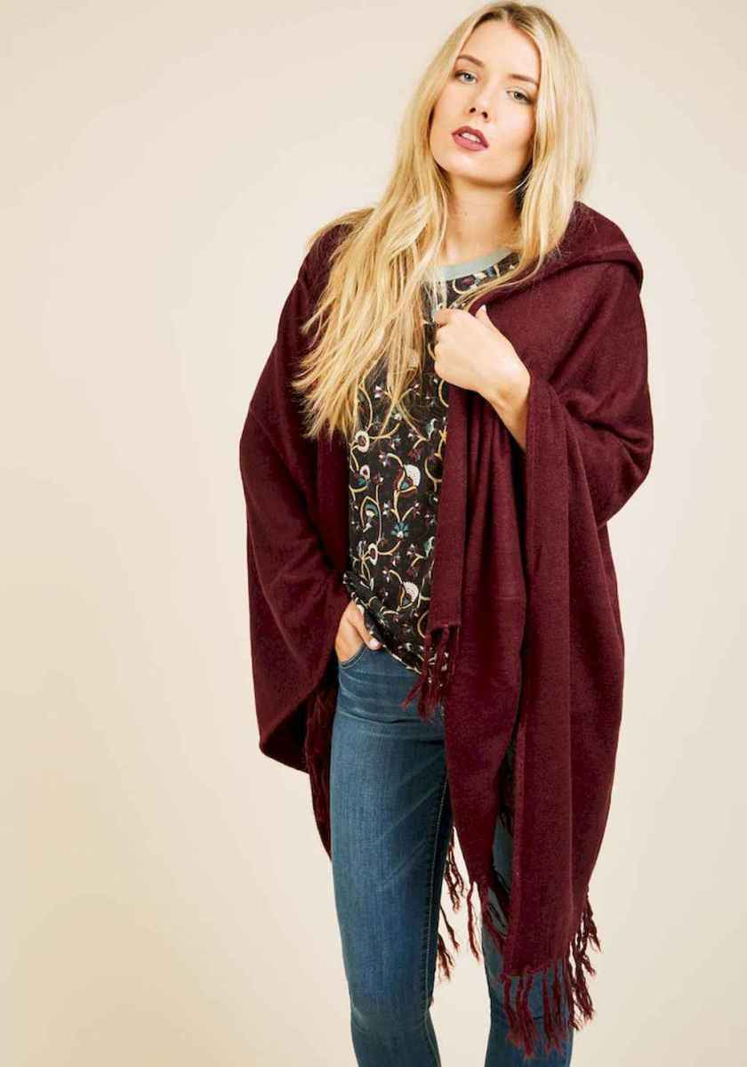 19 Trending Winter Outfits Oversized Poncho Outfit Ideas