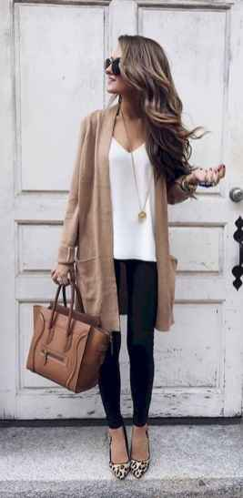28 Beautiful Fall Outfits Ideas With Cardigan