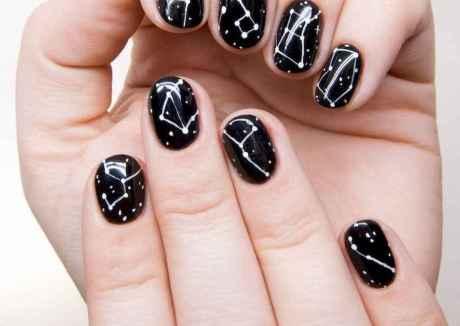 34 Elegant Black Nail Art Designs that You'll Love