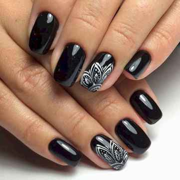 37 Elegant Black Nail Art Designs that You'll Love