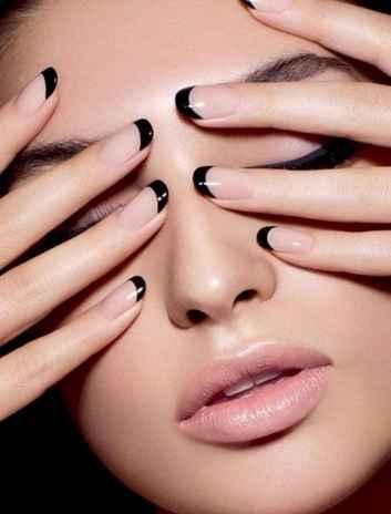 49 Elegant Black Nail Art Designs that You'll Love