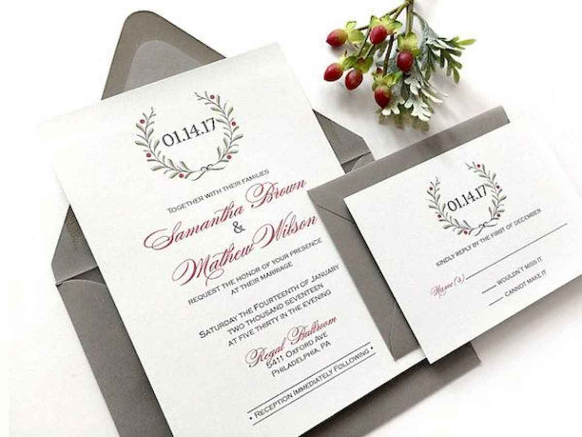 01 Elegant Christmas Wedding Invitations Ideas