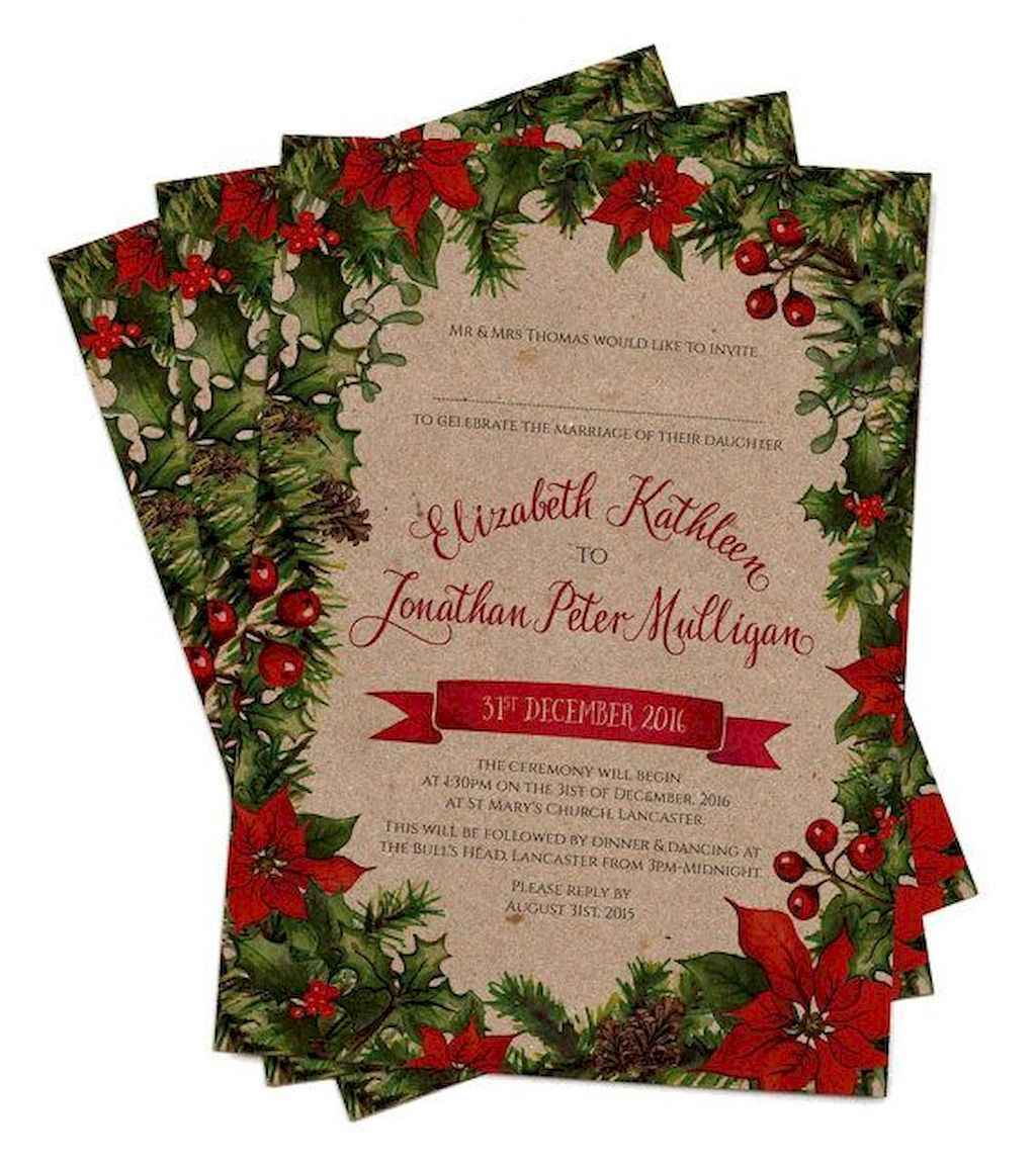 02 Elegant Christmas Wedding Invitations Ideas