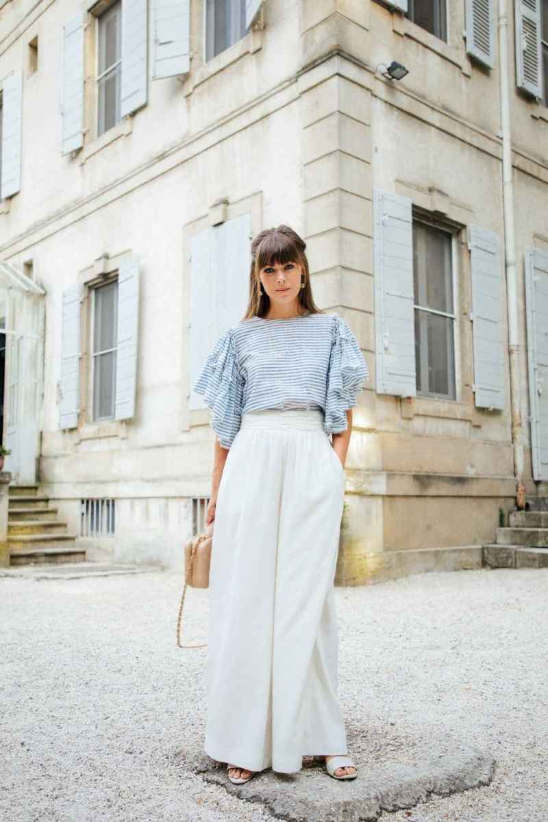 02 Summer White Linen Pants Outfit for Women