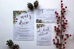 05 Elegant Christmas Wedding Invitations Ideas