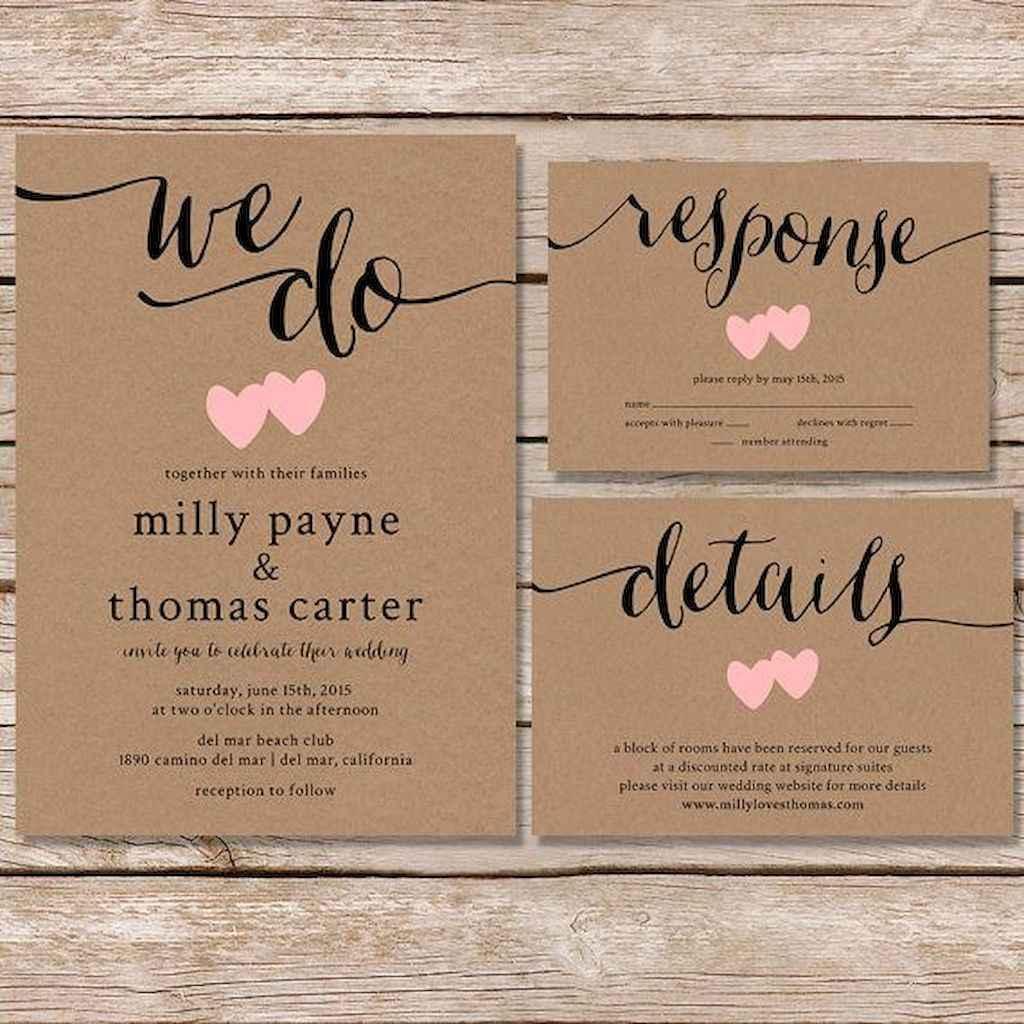 06 Simple Inexpensive Wedding Invitations Ideas