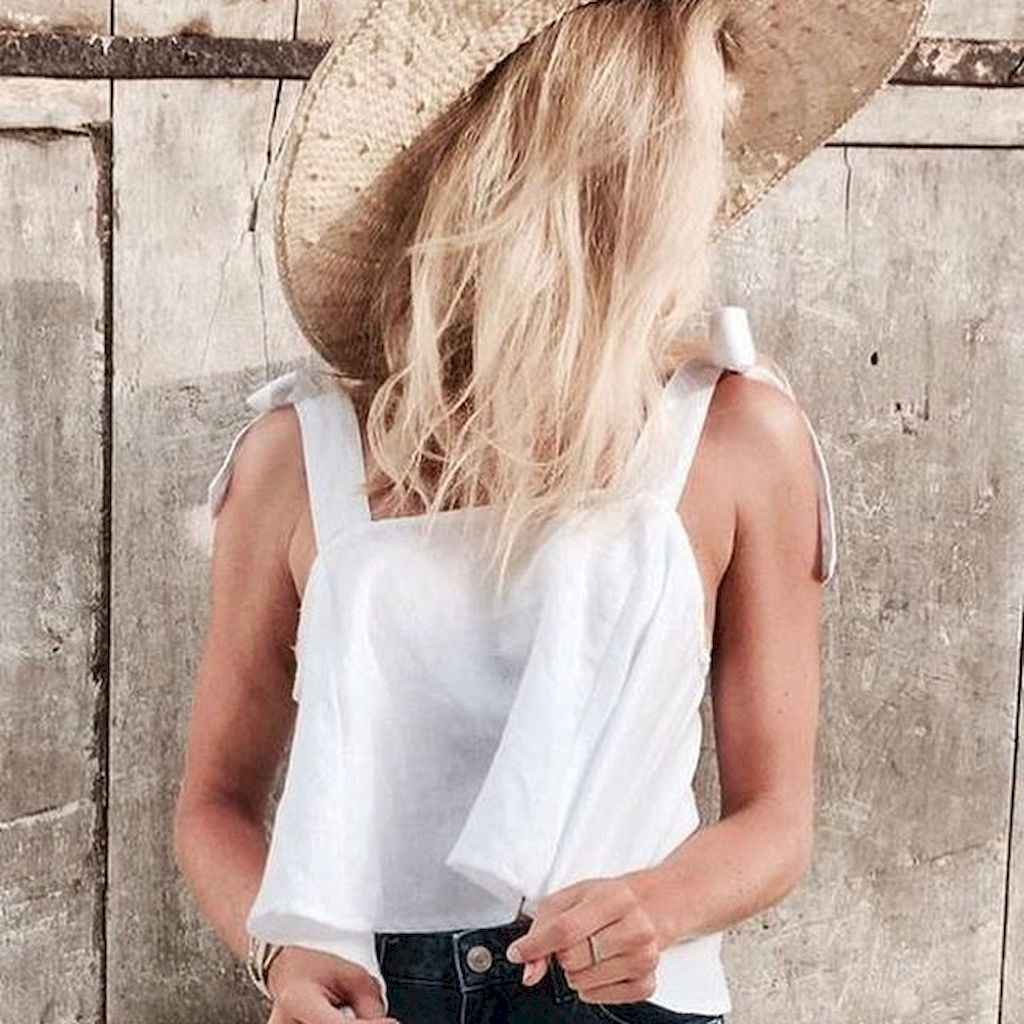 06 Summer White Linen Pants Outfit for Women