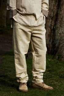 07 Elegant Beige Linen Pants Outfit Ideas