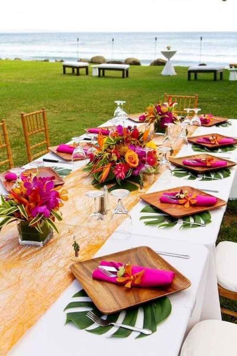 07 Romantic Tropical Wedding Ideas Reception Centerpiece