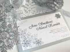13 Elegant Christmas Wedding Invitations Ideas