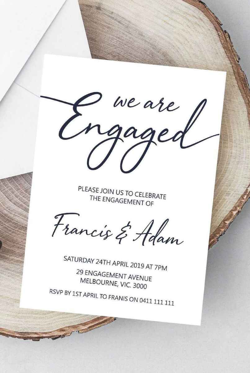 13 Inexpensive Engagement Party Invitations Ideas